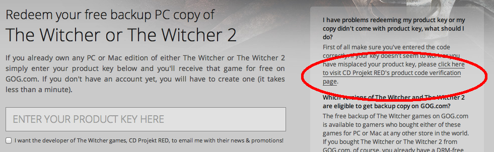 The Witcher Backup verification help