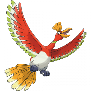 Ho-oh artwork ufficiale