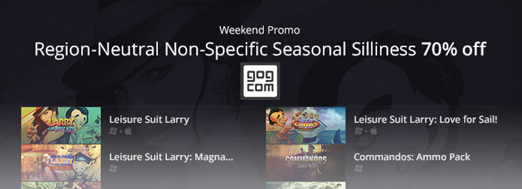 gog.com Weekend Promo: Region-Neutral Non-Specific Seasonal Sillines! 16/01/15 – 20/01/15