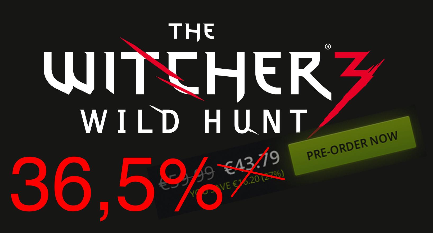 Come avere The Witcher 3 con il 36,5% di sconto
