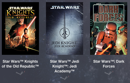 i 3 giochi in PWYW dello Star Wars Humble Bundle