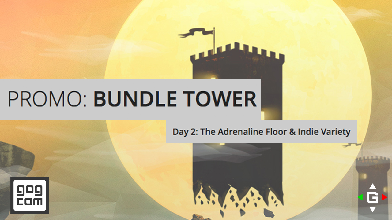 gog.com Bundle Tower Promo – The Adrenaline Floor And Indie Variety