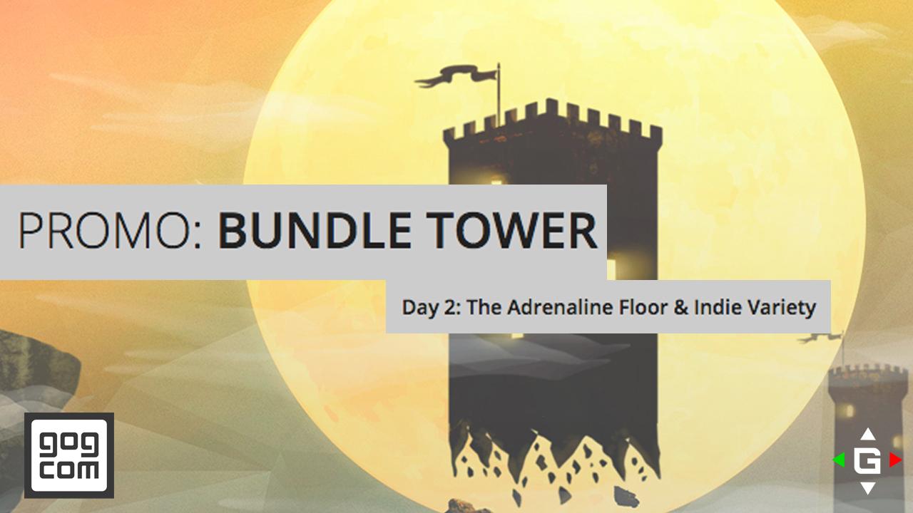 gog.com Bundle Tower Promo – The Adrenaline Floor And Indie Variety