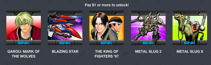 Humble Mobile Bundle NEOGEO More thank 1$
