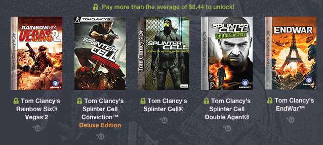 Humble Bundle Tom Clancy Average New<